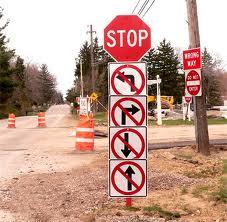 Crazy stop sign
