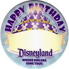 BIRTHDAY button from Disney