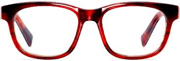 eyeglasses red Warby Parker