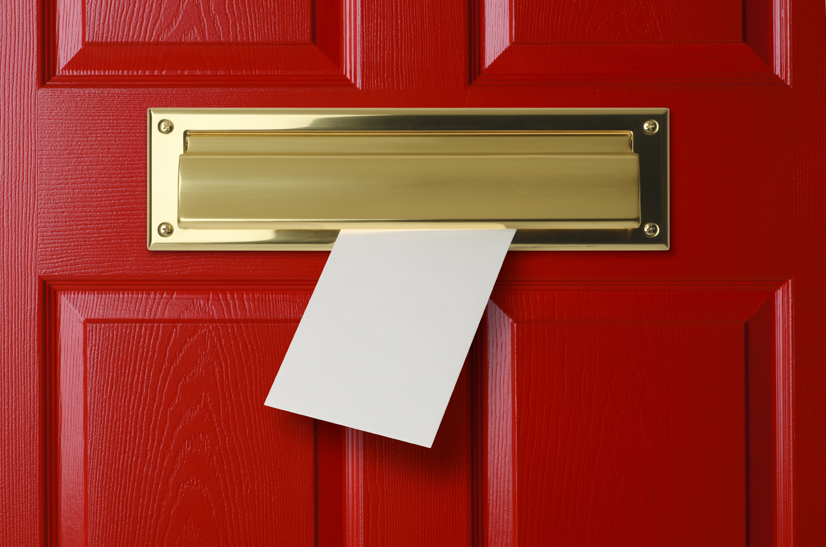 Superieur Red Door With Mail Slot Blog